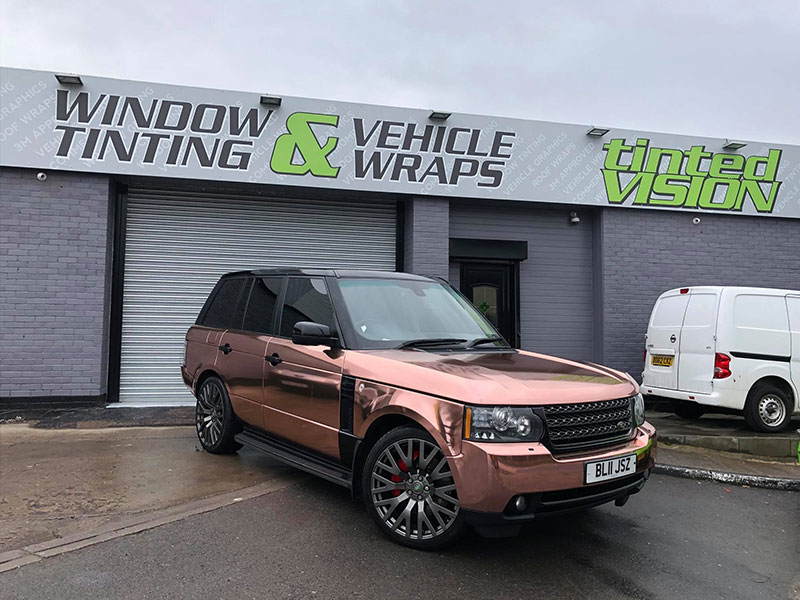 vehicle wrapping graphics north shield